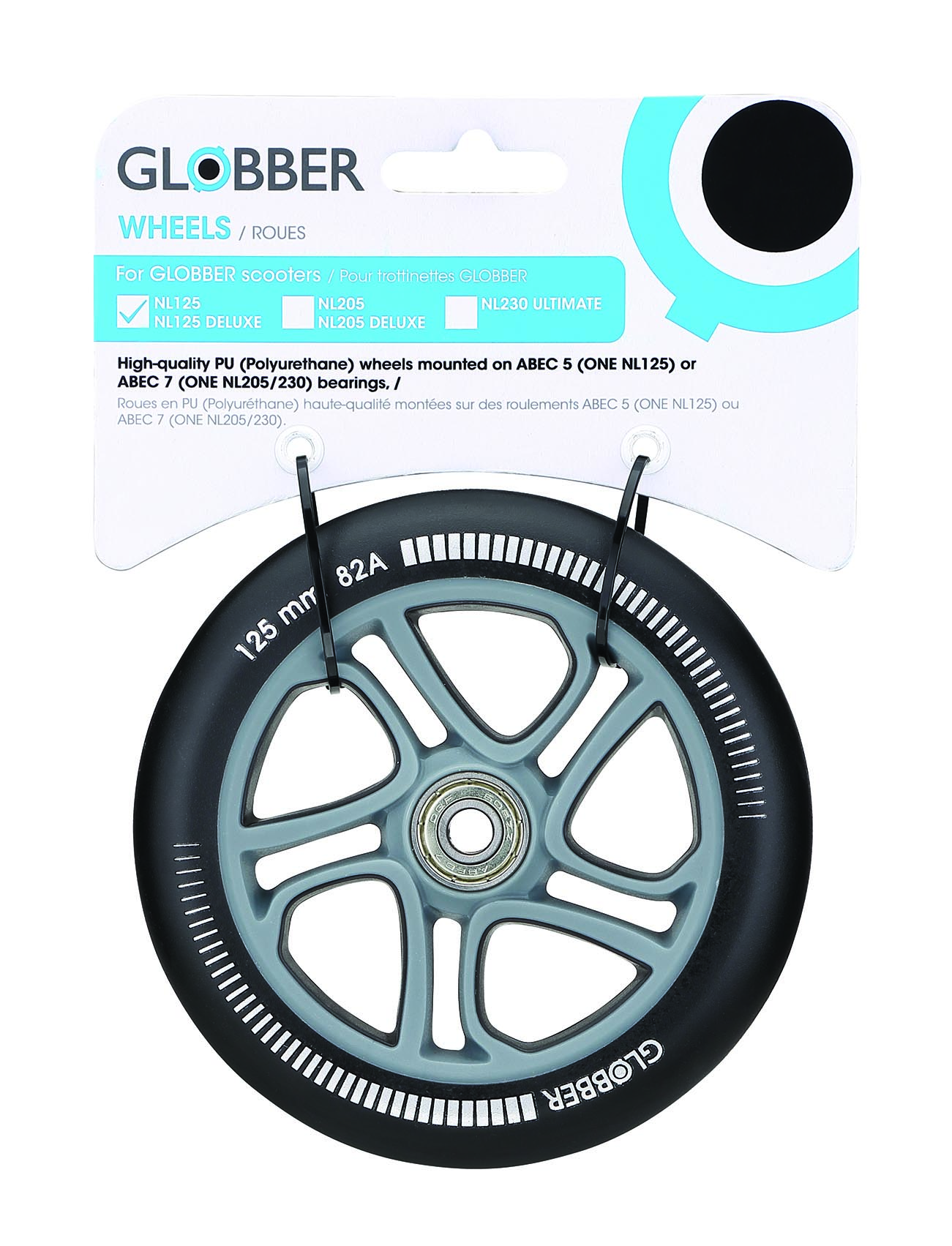 "Колесо ""Globber"" ONE NL 125 wheel - one wheel - / Черный (526-013)"